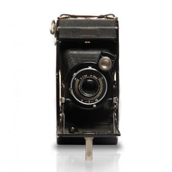 Vista frontale della macchina fotografica d'epoca