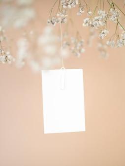 Vista frontale elegante carta di nozze