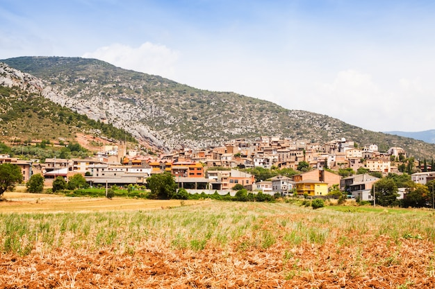 Vista generale del villaggio catalano. coll de nargo