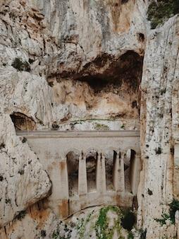 Vista grandangolare del sentiero del piccolo sentiero del re del caminito del rey