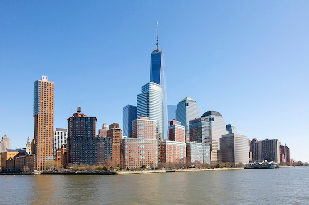 Vista panoramica di battery park a new york.
