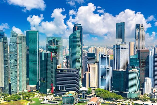 Vista panoramica di singapore