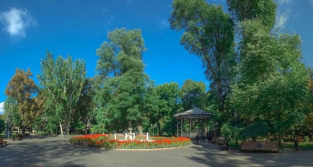 Vista panoramica sul giardino della città di odessa