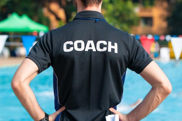 Vista posteriore degli allenatori sportivi