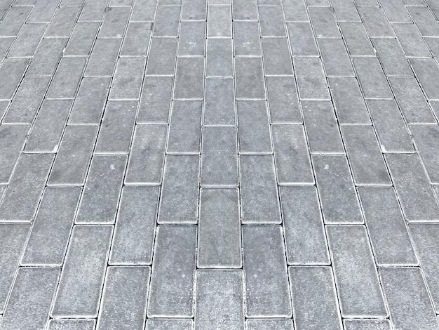 Vista prospettica del fondo del pavimento della pavimentazione.
