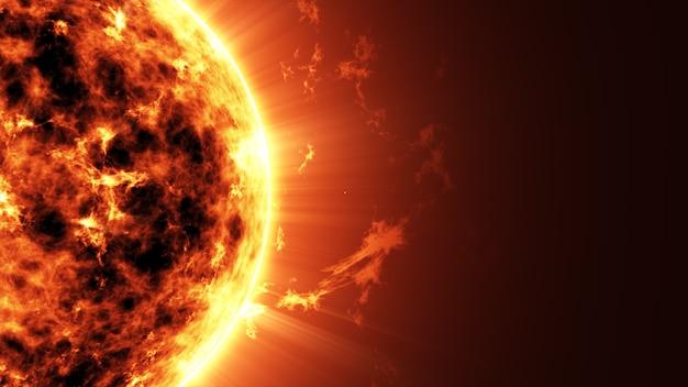 Vista ravvicinata sulla stella nello spazio