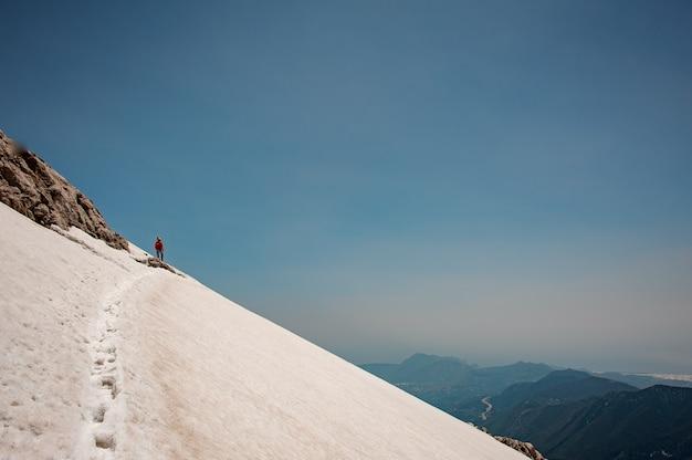 Vista sugli altopiani coperti di neve