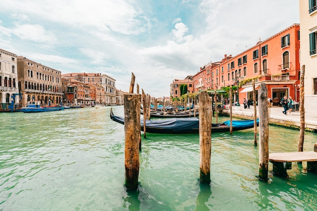 Vista sul canale a venezia, italia.