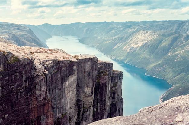Vista sul fiordo norvegese