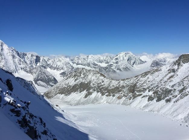 Vista sul ghiacciaio dal passo del delone