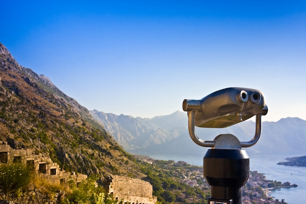 Vista sulla città binoculare