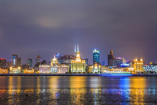 Vista sulla città di notte