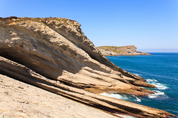 Vista sulla costa di santander