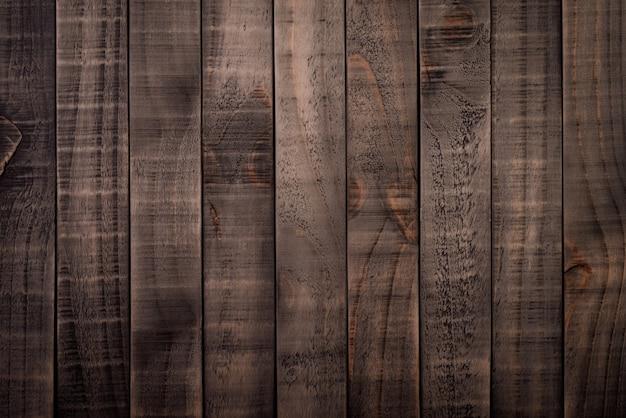 Vista superiore di struttura di legno marrone scuro e nera, tavola di legno.