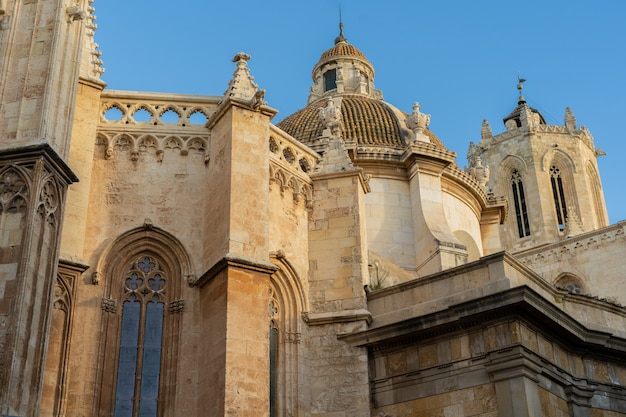 Viste della cattedrale di tarragona, catalogna, spagna