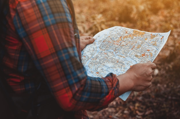 Visualizza la mappa prima della partenza.