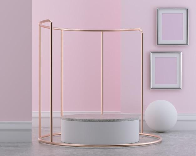 Visualizzazione del podio o scena della vetrina.