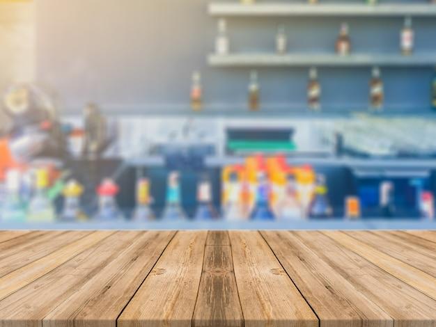Visualizzazione dello sfondo in legno alto vuoto