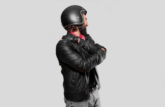 Vittima dell'incidente del motociclista