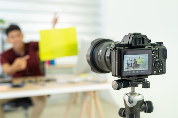 Vlog del commerciante online in diretta