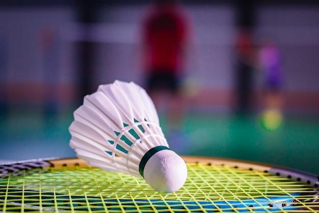 Volani e racchetta da badminton.