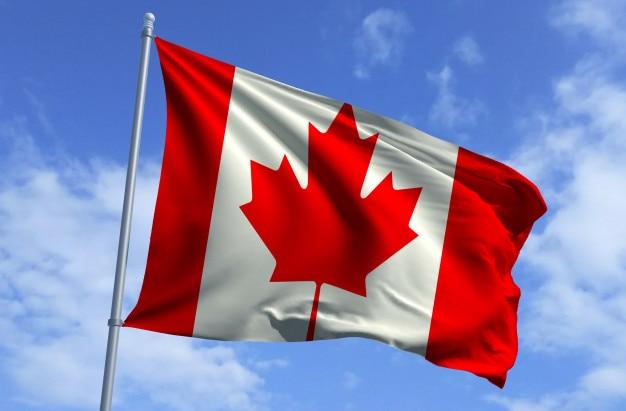 Volo bandiera del canada