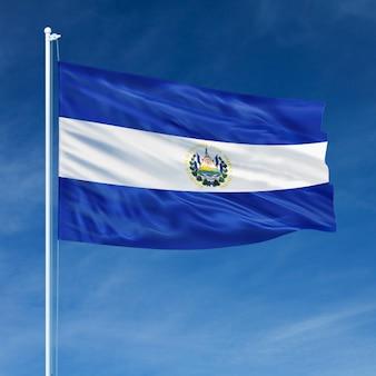 Volo della bandiera di el salvador