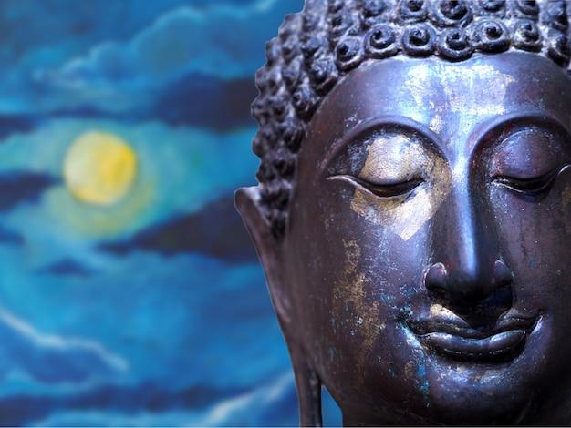 Volto di sfondo astratto di buddha