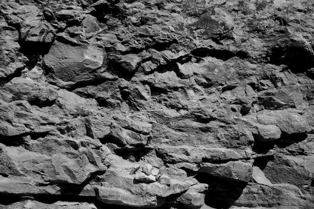 Volto in bianco e nero della roccia