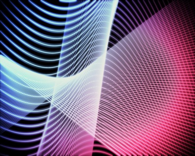 Voluta di linee blu e rosa
