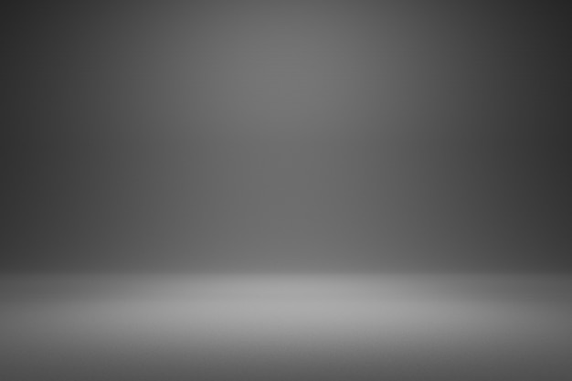 Vuoto sfondo grigio e riflettori. rendering 3d realistico.