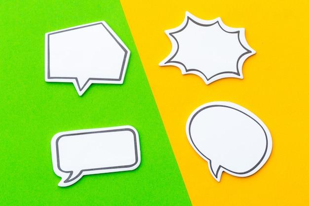 Vuoto vuoto chat bubble per il testo