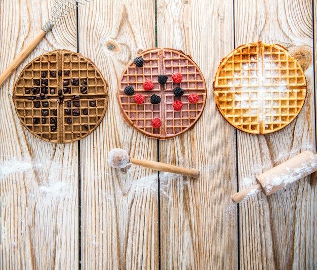 Waffle con diversi sapori