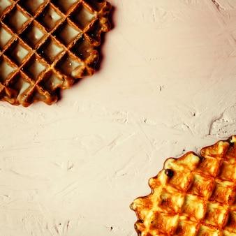 Waffle fatti in casa da vicino vista
