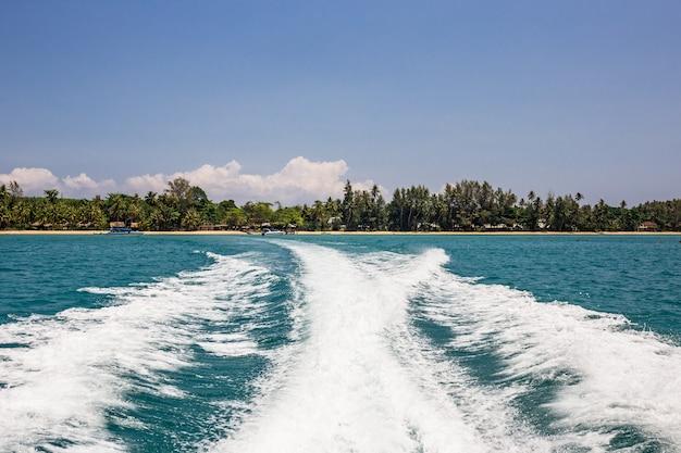 Wake of speed boat