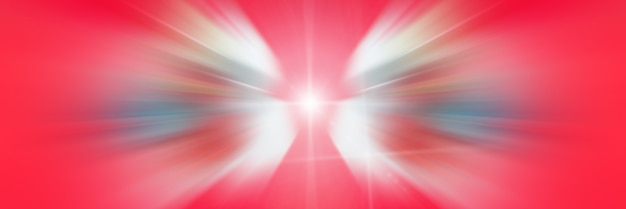 White angel wings. linee dinamiche rosse e bianche di luce. luce dal punto centrale.