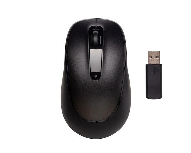 Wireless del mouse del computer moderno isolato su spazio bianco