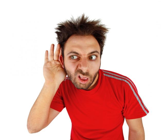 Wow espressione con l'udito