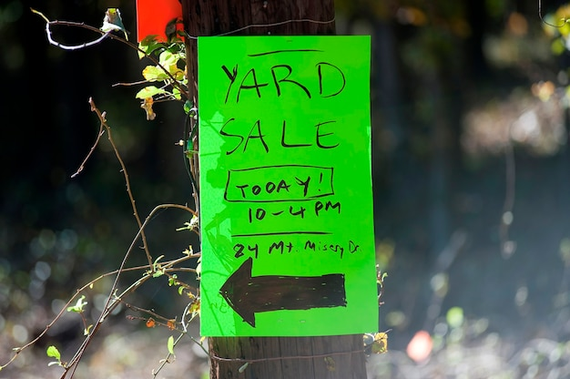 Yard sale, the hamptons, new york