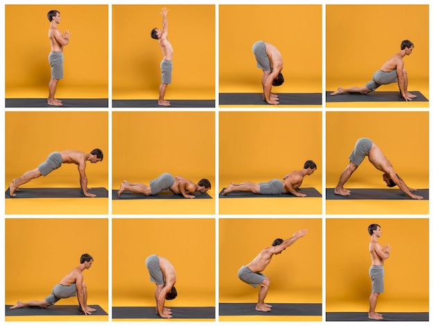 Yoga multiplo pone collage