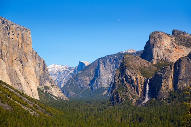 Yosemite el capitan e half dome in california