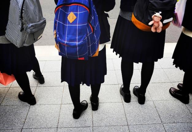 Zaino uniforme da scuola per studenti giapponese