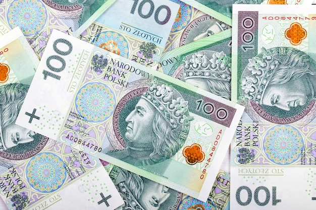 Zloty polacco, uno sfondo di affari