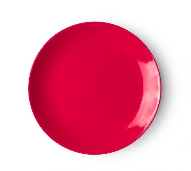 Zolla di ceramica rossa su superficie bianca