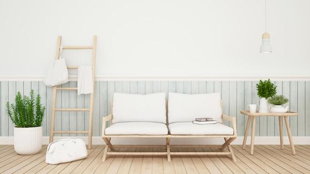 Zona giorno in casa o condominio - rendering 3d