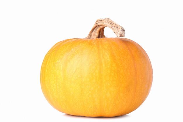 Zucca arancione isolata su una priorità bassa bianca