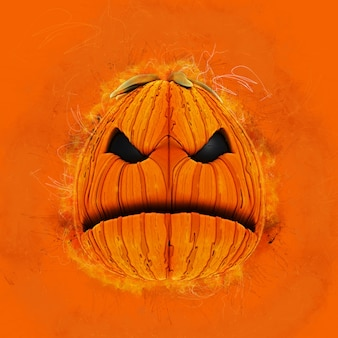 Zucca di halloween del grunge