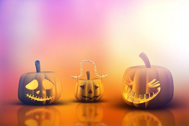 Zucche di halloween 3d