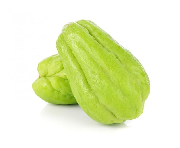 Zucchina centenaria isolata su bianco