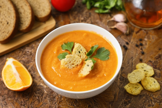 Zuppa di lenticchie schiacciata.